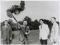 Groundbreaking for the State University of New York at Albany's campus, 1962 August