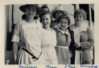 Photograph of Helena Duerschner, Helen Chase, and...