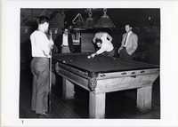 Page 95: Male students playing pool in Vanderzee Hall.
