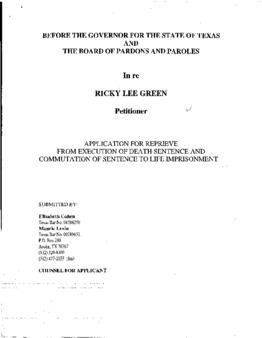 Green, Ricky Lee, TX