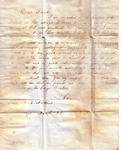 A digital reproduction of a letter sent to George...