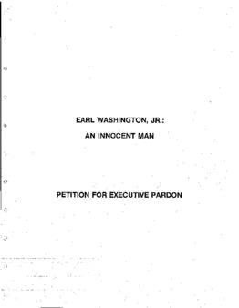 Washington, Earl, Jr, VA Clemency granted