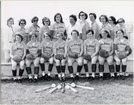 Page 147 A-Top: Group photo of the women's softball team.