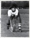 Page 189 B-Bottom: Zoraida Davis, '91, star player on the women's softball team.