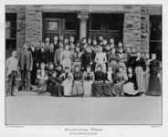 Group photograph of the Class of 1893 on the steps...