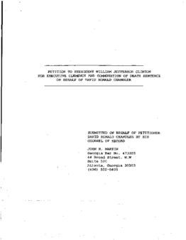 Chandler, David R Granted clemency