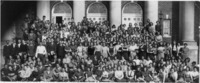 Group photograph of the class of 1931 as freshmen...