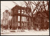 Willett Street Building after a fire, 1906 January 6