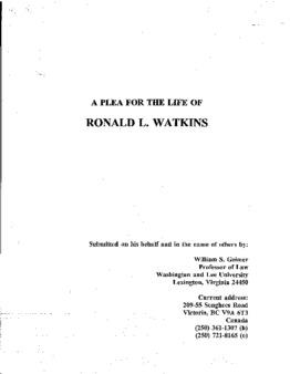 Watkins, Ronald L, VA
