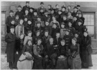 Group photograph of the Class of 1894 standing on...