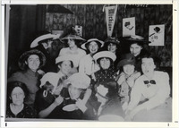 Page 67 A-Top: A group of women students have a
