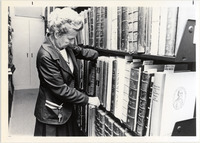 Page 151 B-Bottom: Harriet Dyer Adams, MLS '60 and former head of the University Libraries Special Collections in the 1970s.