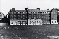 Page 99 C-Bottom: Exterior of Pierce Hall and Alumni Quad Courtyard.