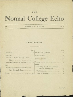 The Echo Volume 1 Number 1