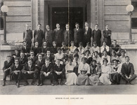 Unidentified students from the senior class of the...