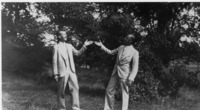 Photograph of William Charles Robertson (left) and...