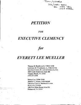 Capital Punishment Clemency Petitions