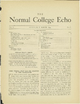 The Echo Volume 2 Number 8