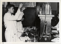 Page 107 A-Top: A chemistry laboratory.