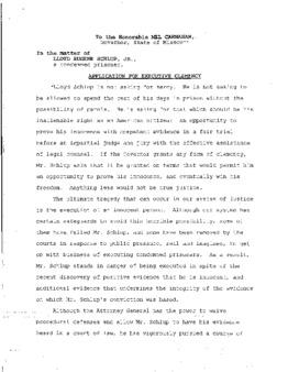 Schlup, Lloyd E, Jr, MO New trial no death sentence