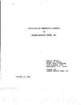 Payne, Joseph P, Sr, VA Clemency granted