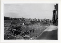 Page 99 A-Top Left: Construction of Brubacher Hall.