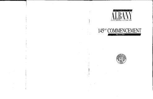 Commencement Programs