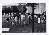 Page 149 B-Bottom: Students outdoors with a keg.