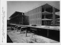 University Library southeast corner overhang panel, 1965 July 8