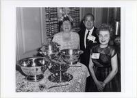 Page 122 A-Top: Quarter Century Club members Henrietta Brett, '15, Jacob Epstein, '15 and Florence Linindoll Hilton, '31 on Alumni Day.