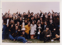 Page 152: Sigma Tau Beta, winners of the prize for best float in the 1969 Homecoming Parade.