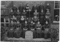 Group photograph of the Junior Social Club. Anne...