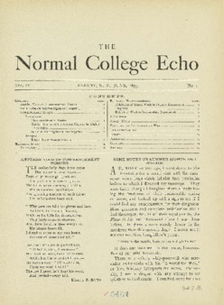 The Echo Volume 4 Number 1