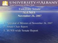 University Senate Legislation