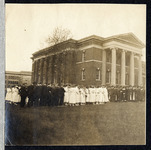 A photograph of unidentified students and faculty...