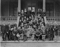 A group portrait of students from the New York...