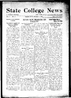 Front page of a 1916 State College News.