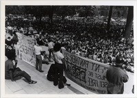 Page 158: A protest in support of the Black Panthers at the State Capitol.