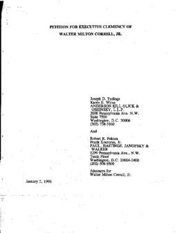Correll, Walter M, Jr, VA