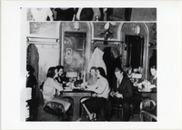 Page 110 A-Top: The Boulevard Café was the meeting place for the Philosophy Club.