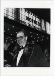 Page 209 A-Left: William Kennedy, Professor of English at the Albany premiere of the film based on his novel Ironweed.