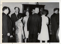 Page 96 A-Top: President Evan Revere Collins with his wife and faculty.