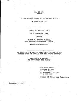 Beavers, Thomas H, Jr, VA, Not a Clemency petition