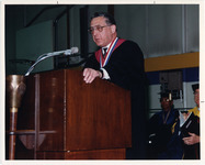 Page 194: Dr. David Axelrod addressing the crowd at Commencement.