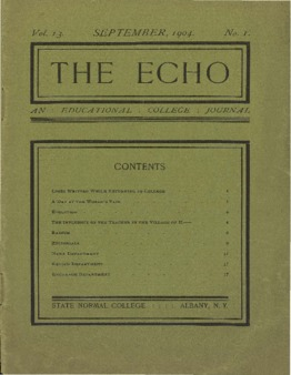 The Echo Volume 13 Number 1