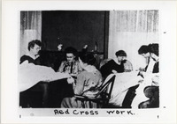 Page 65 B-Bottom: Students engaged in Red Cross War Work.