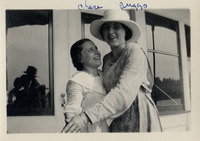 A photograph of Helen Chase and Alice Briggs,...