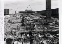 Page 125 C-Bottom: The Main Fountain Area and Lecture Centers under construction.