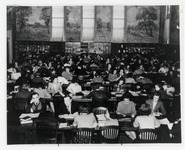 Students study in Hawley Library, ca. 1940