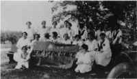 Women students from the Class of 1926 holding a...